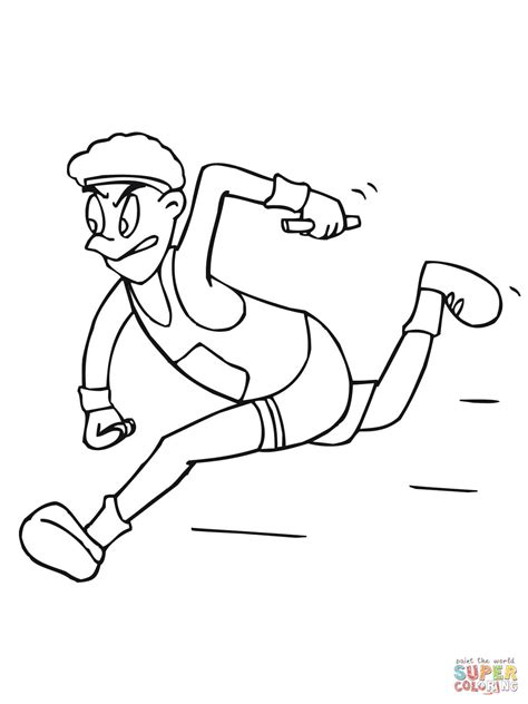 Atletiek Kleurplaat by Running Relay Race Coloring Page Free Printable Coloring
