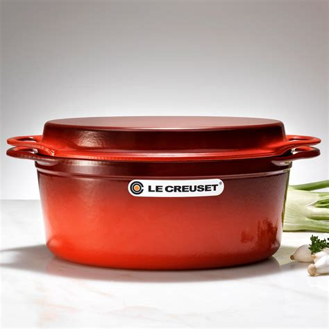 Gusseisen Pfanne Le Creuset by Le Creuset Gusseisen Br 228 Ter Grillpfanne Rot Kaufen