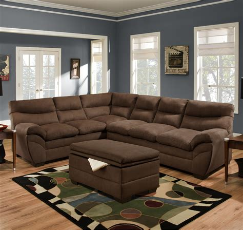 Simmons Upholstery 9515 Casual Sectional Sofa Dunk