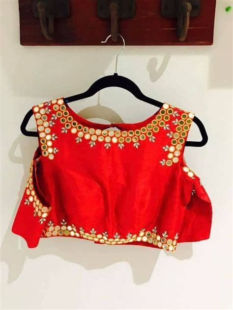 Mirror Design Photo by Simple Mirror Work Blouse Designs Fashion Mehndi