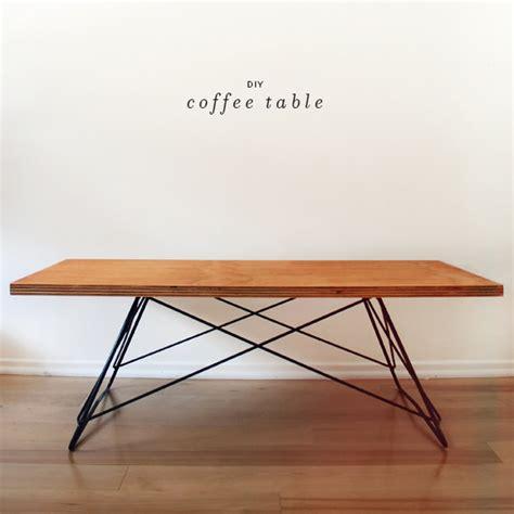 diy mid century modern coffee table image