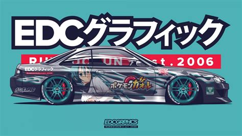 You will definitely choose from a huge number of pictures that option that will suit you exactly! Wallpaper : EDC Graphics, Nissan Silvia S14, render, anime ...
