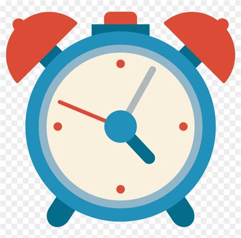 Vector illustration of kids showing time. Alarm Clock Icon - Blue Cartoon Clock - Free Transparent ...