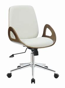 White Wood Office Chair - Steal-A-Sofa Furniture Outlet
