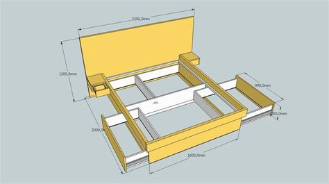 build platform bed  drawers platform bed