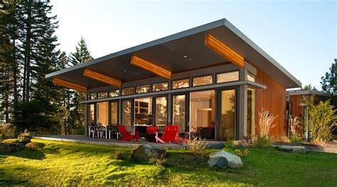 rustic wood trim california modular homes contemporary modern prefab home