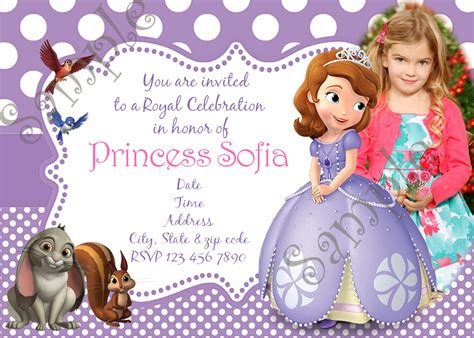 sofia   birthday party invitation  birthday