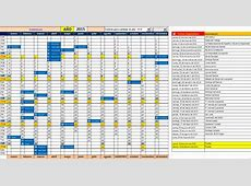 Calendario Anual 2016 Excel Descargar Calendar Template 2018