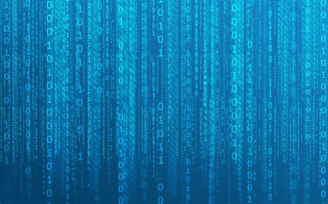 Hd Background Binary Numbers 0 1 Matrix Code Blue Abstract