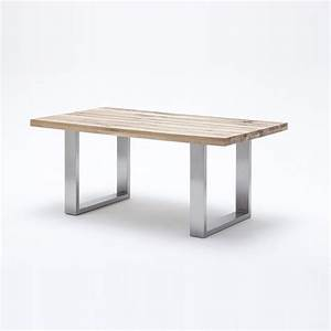 Capello Wild Oak Dining Table With Stainless Steel Legs