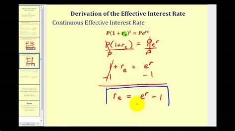 effective interest rate effective yield youtube