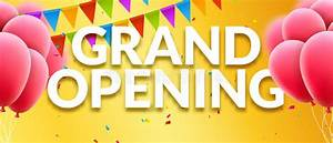 Grand Opening Event Invitation Banner With Balloons And ...