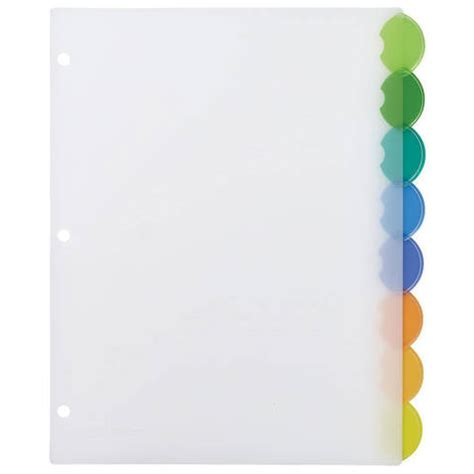 Avery Style Edge Insertable Plastic Dividers Multicolor 8