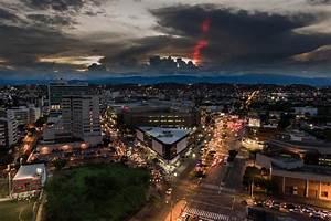 Stunning Sunset With Strange Light Beam  C U00facuta  Colombia