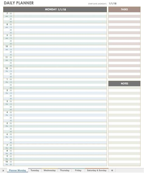 daily calendar template 2018 daily planner printable 2018 listmachinepro