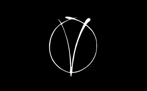 V For Vendetta, Minimalism, Black, White, Logo, Movies