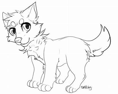 Wolf Lineart Dog Affinity Fur