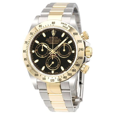 Rolex Cosmograph Daytona Black Dial Stainless steel and ...