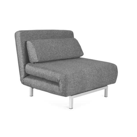 fauteuil convertible design 1 place archie coul achat vente fauteuil tissu polyester