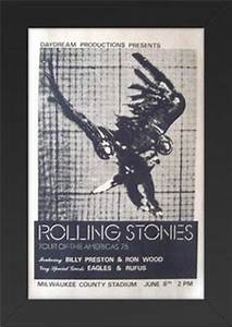 Rolling stones 1975 tour of the americas poster eagles ron ...