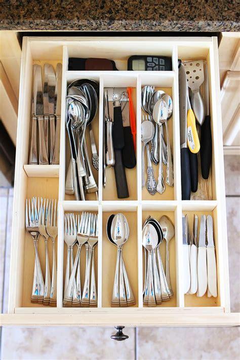 Diy Kitchen Drawer Organizer by Make Your Own Custom Drawer Organizer Projects Utensil