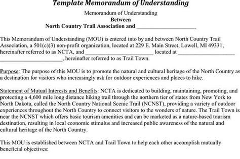 memorandum  understanding template