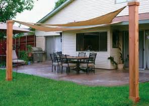 Sun Sails For Decks by Patio With Shade Sails To Provide Protection From The Sun