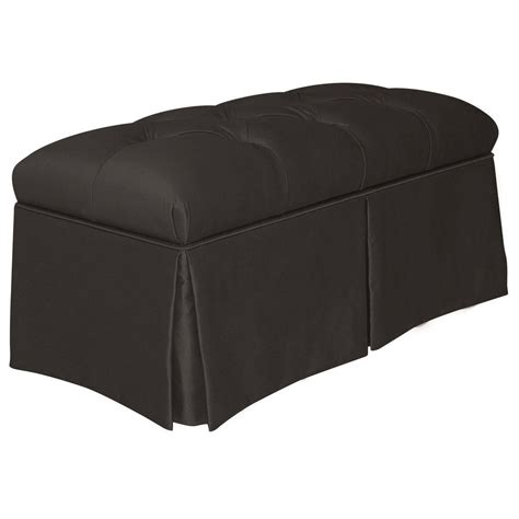 Home Decorators Collection Pippa Black Shantung Skirted