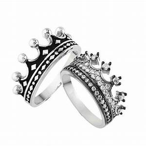 king queen ring crown ring setgold crown ring925k With gold king and queen wedding rings