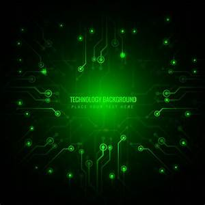 Green technology background Vector | Free Download