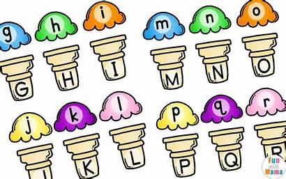 Alphabet Ice Cream Matching Fun Activity Cutting