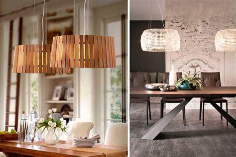 dos lamparas  la decoracion del comedor