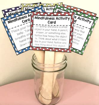 mindfulness activity cards  counselorchelsey tpt