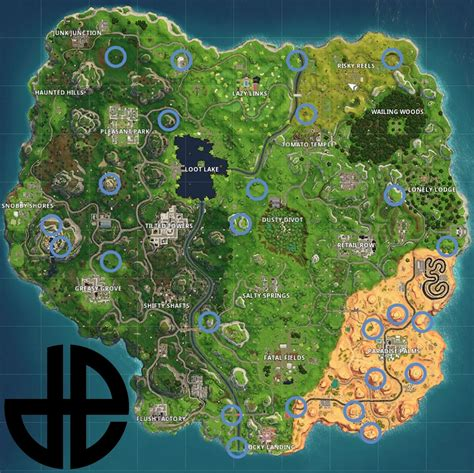 fortnite rift spawn locations   week  season