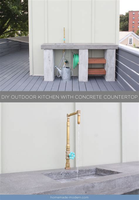 modern ep96 diy outdoor kitchen with concrete