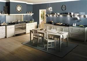 Cuisine équipée Bois : cuisine en bois massif blanc une cuisine quip e ~ Premium-room.com Idées de Décoration
