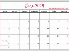 Printable June 2019 Calendar Fresh Calendars