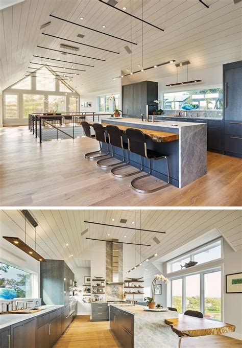 kitchen island lighting idea   long light