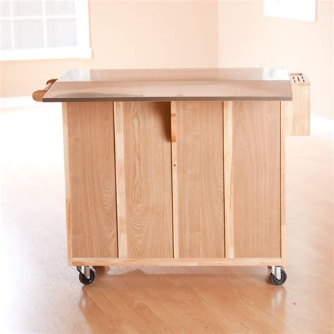 counter height kitchen island table stainless steel top kitchen island counter height utility