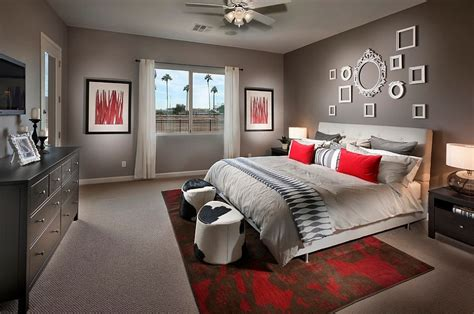 Red Bedrooms :  19 Dashing Bedrooms In Red And Gray