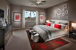 awesome chambre a coucher gris et rouge pictures With chambre gris et rouge