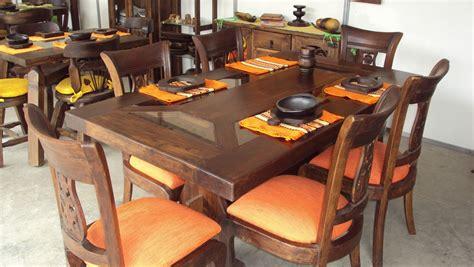 comedores  salas en madera rusticos nicoll calidad