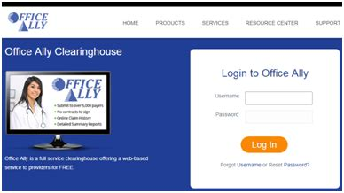 Office Ally by Office Ally Login Practice Mate Clearinghouse And Ehr