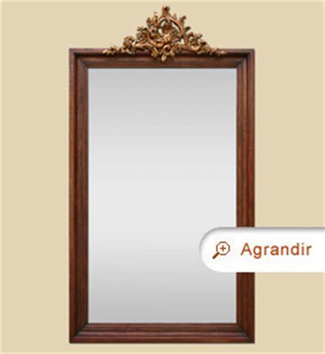 grand miroir ancien en bois teint 233 acajou avec coquille dor 233 miroirs anciens