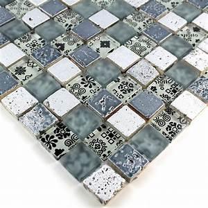 Mosaique Salle De Bain Castorama : mosaique de verre et pierre credence cuisine et douche ~ Dailycaller-alerts.com Idées de Décoration