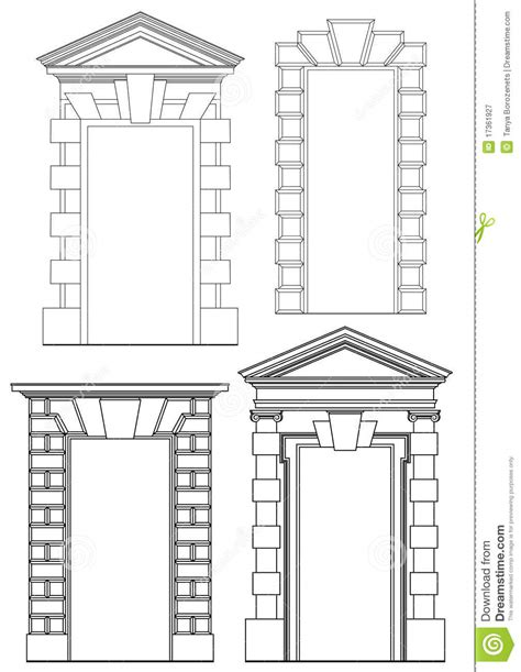 Architectural Elements Stock Vector Illustration Of