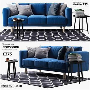 Ikea Sofa Norsborg : three seat sofa ikea norsborg 3d max ~ Frokenaadalensverden.com Haus und Dekorationen