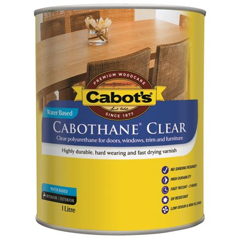 cabots cabothane clear water based  satin bunnings
