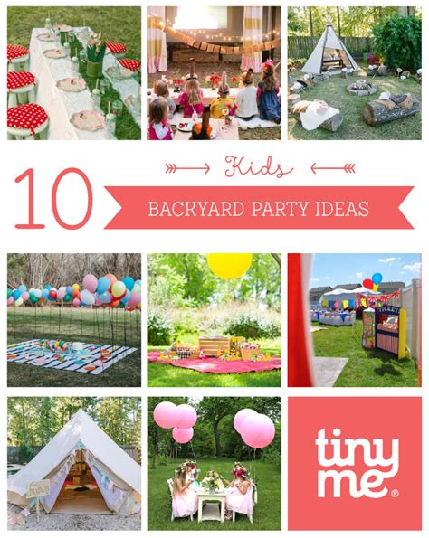 10 1st birthday party ideas for tinyme 10 kids backyard party ideas tinyme