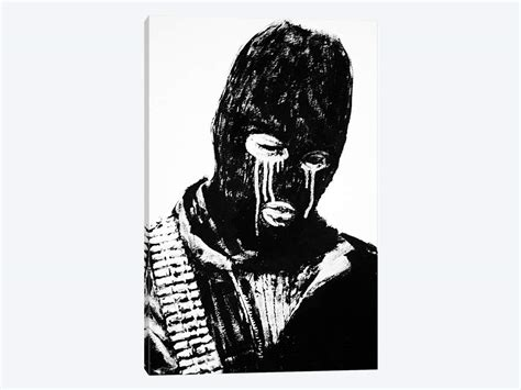 terrorist ski mask canvas artwork by banksy icanvas